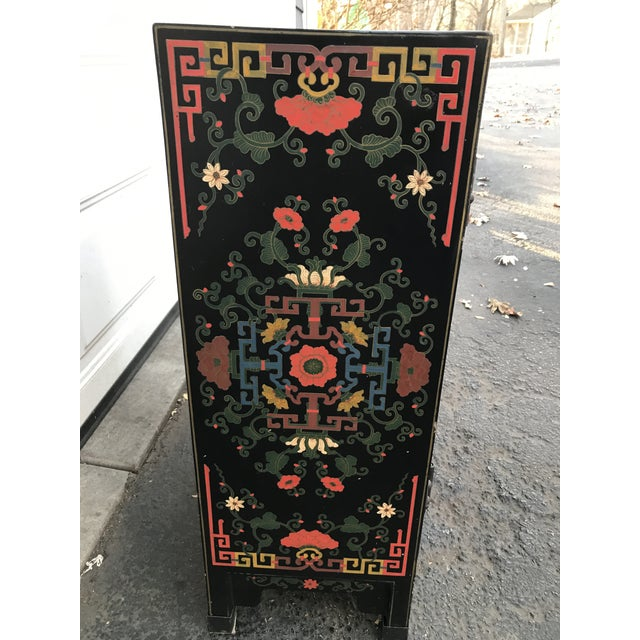 Hand Painted Chinoiserie Cabinet - Image 8 of 10
