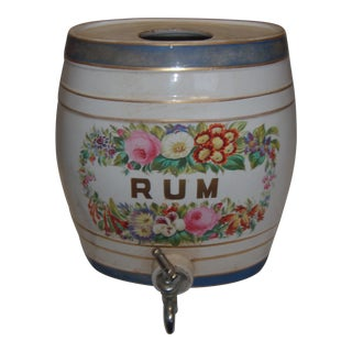 Old Ornate English Pub Porcelain Rum Dispenser