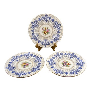 Antique Minton Hand Painted Cabinet Plates - Set of 3