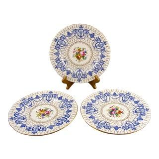 Antique Minton Hand Painted Cabinet Plates - Set of 3