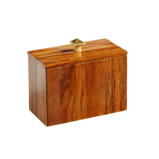 Selamat Designs Varnished Teak Captain's Apothecary Box