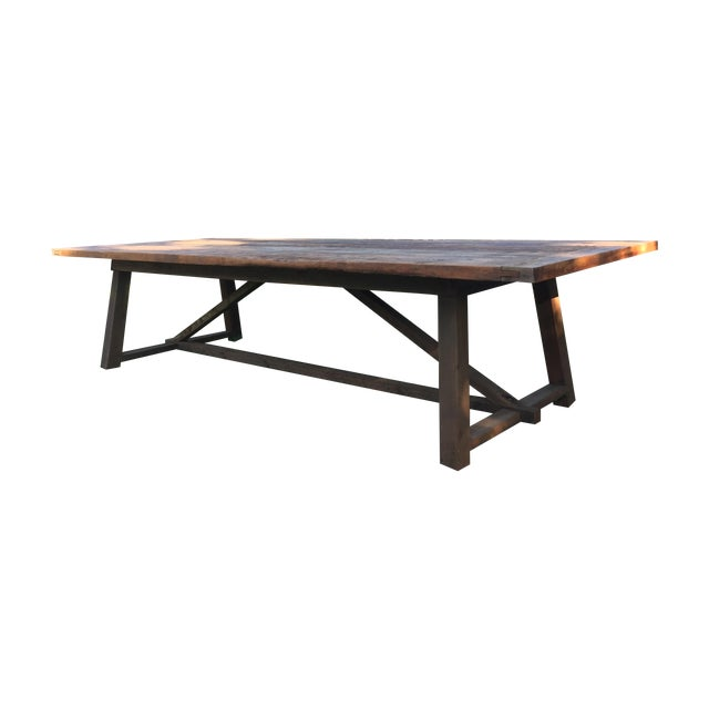 10 39 salvaged reclaimed wood outdoor dining table chairish