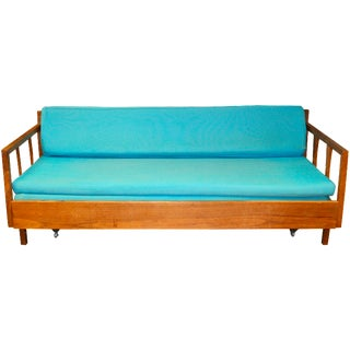Mid-Century Danish Modern Sofa With Pullout Daybed