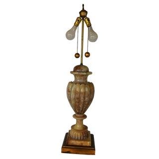 Mid-Century Italian Alabaster Urn Lamp