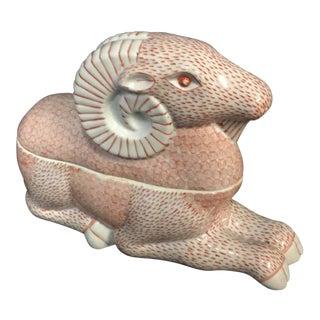 Mid-Century Regency Ceramic Ram