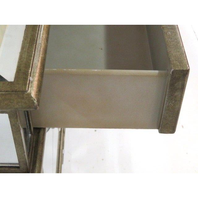 Image of Silvered & Mirrored End Tables - A Pair
