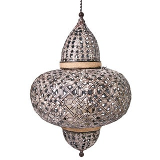 Vintage Inspired Morrocan Style Perforated Metal Lantern