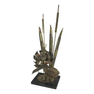 Metal Water Lily Sculpture