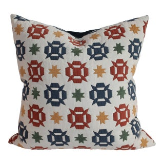 Colorful Star and Flakes Quilt Pillow