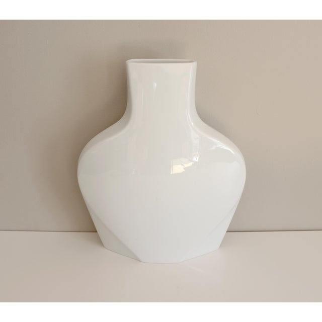 Rosenthal Studio Line White Ceramic Vase Modernist Post Modern - Image 3 of 5