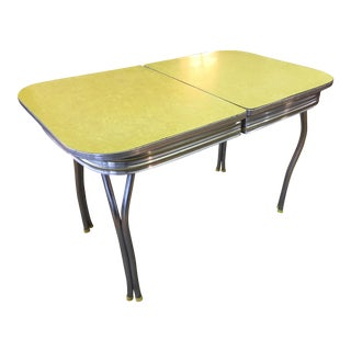 Yellow Enamel Dining Table
