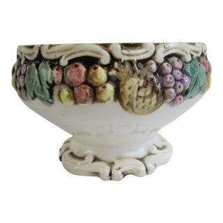 Fruit Decorated Majolica Bowl