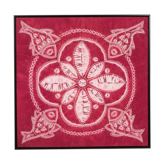 Sarreid Ltd. Framed Yi Batik Pink Fabric