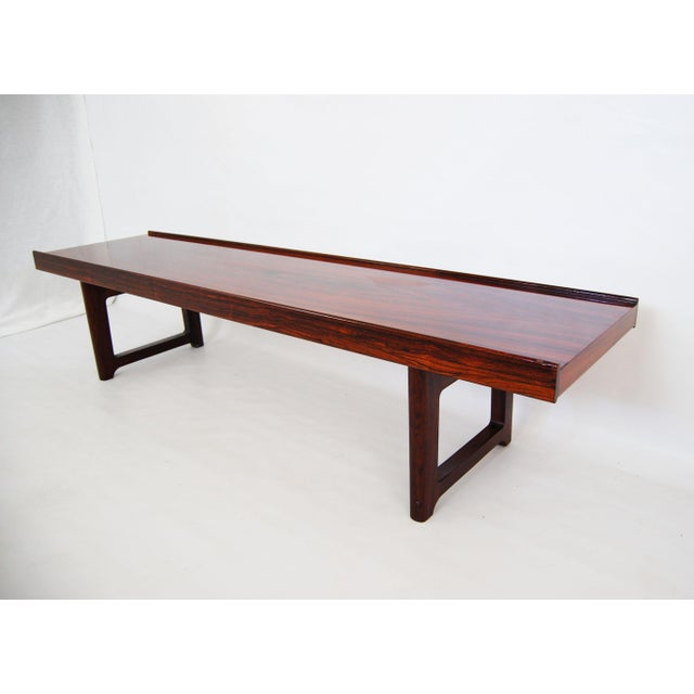 Torbjorn Afdal for Bruksbo Norwegian Krobo Rosewood Coffee Table or Bench - Image 2 of 7