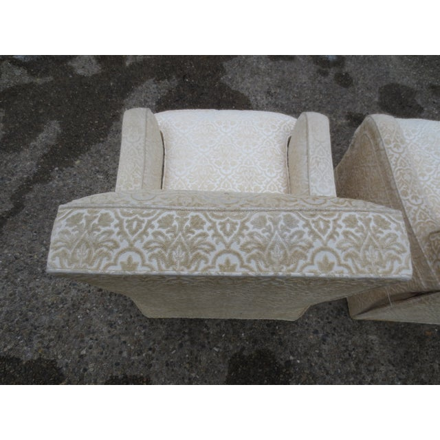 Vintage Cream Club Chairs - A Pair - Image 4 of 9