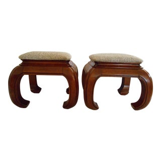 Ming Style Ottomans - A Pair
