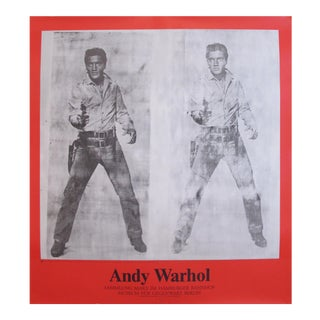 Original Andy Warhol Exhibition Poster, Double Elvis