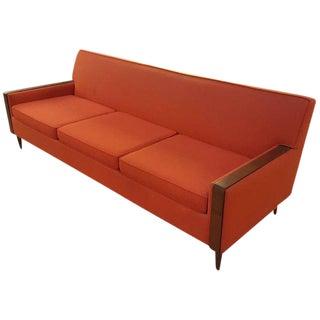 Mid-Century Modern Paul McCobb Style Orange Sofa