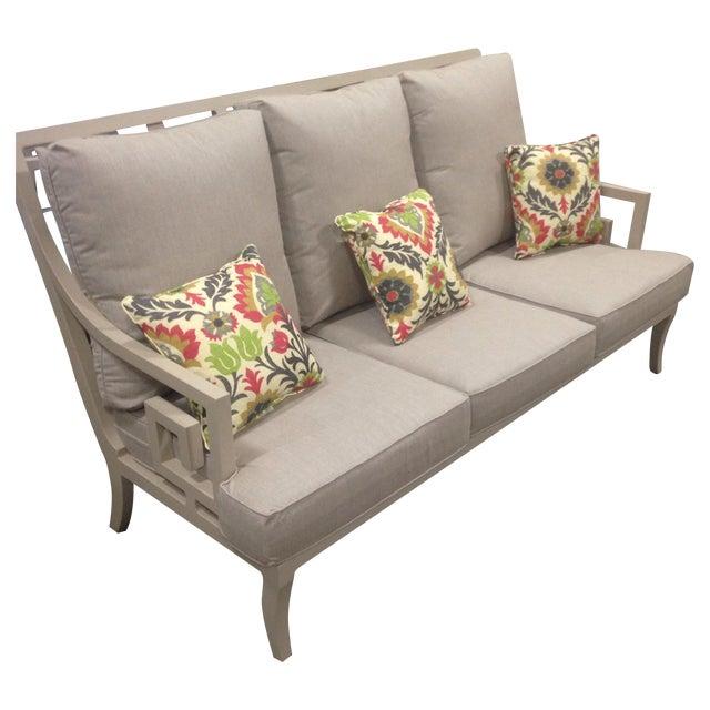 Lane Venture Gray Outdoor Sofa - Image 1 of 9