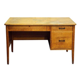 Mid-Century Maple Desk