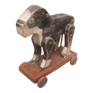 1920s/30s Boston Terrier Wooden Toy Dog
