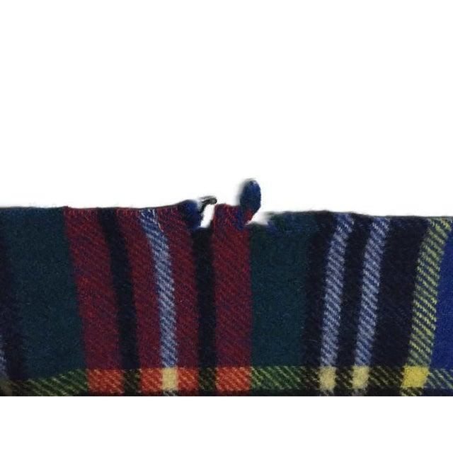 Image of Vintage Tartan Plaid Throw Sofa Blanket