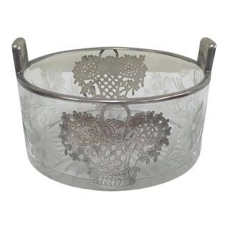 Vintage Silver Overlay Flower Basket Ice Bucket