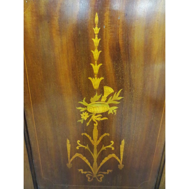 Image of Inlaid Armoire W/ Mirrored Doors