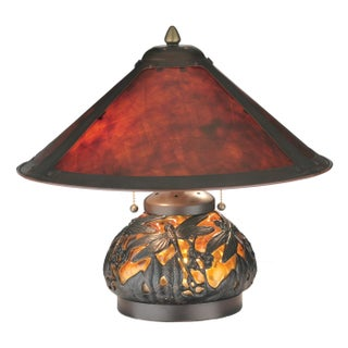 Amber Mica 2 Light With Lighted Base Table Lamp