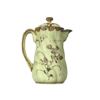 1900s Nippon Moriage Coffee Pot