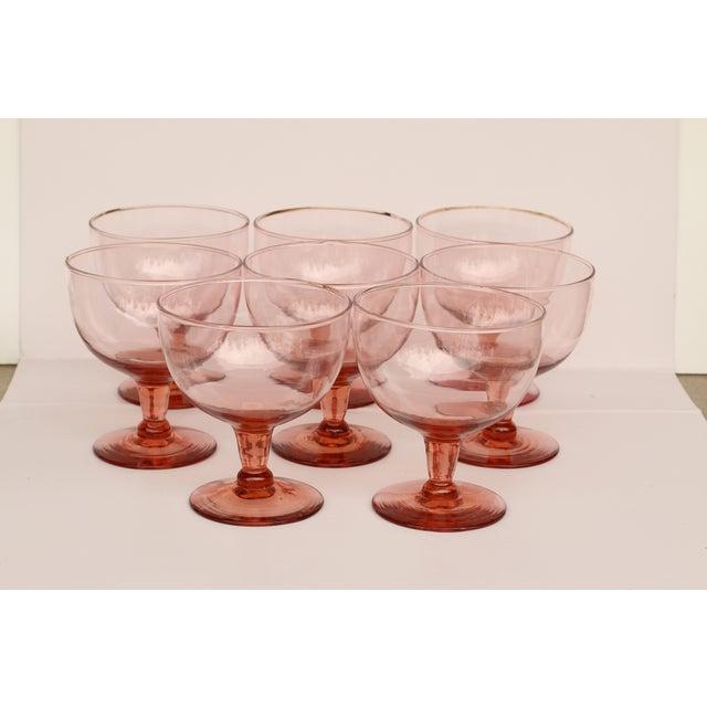 Image of Pink Sherbet Glasses - Set 8