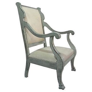 1920s Scrolled Arm Chair
