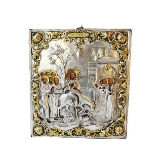 Antique Russian Icon of Palm Sunday