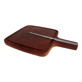 Vintage Digsmed Cutting Board with Knife