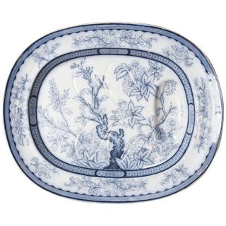 Antique Vesper Blue & White Meat Platter
