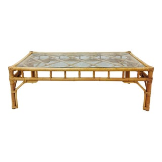 Vintage Rattan & Bamboo Coffee Table