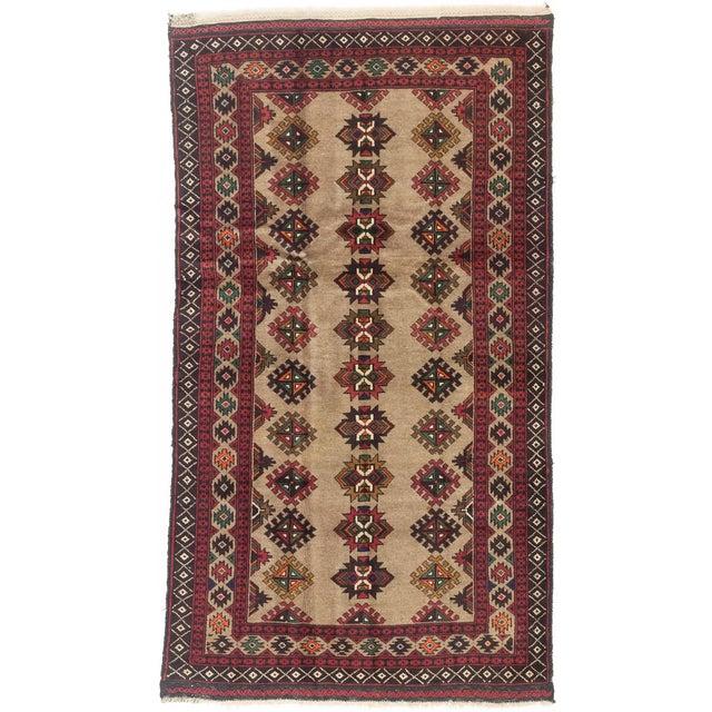 "Image of Vintage Rizbaft Afghan Tribal Rug - 3'5"" X 6'3"""