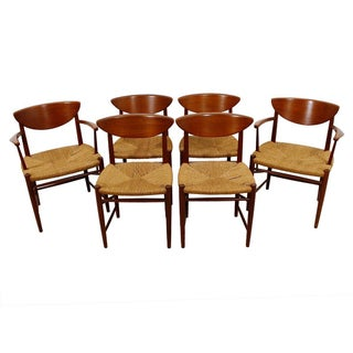 Peter Hvidt Danish Rope Dining Chairs - Set of 6