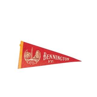Bennington Vermont Battle Monument Felt Flag