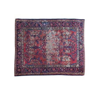 "Distressed Vintage Lilihan Square Rug- 5'4"" X 6'5"""