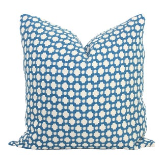"""Schumacher Betwixt in Blue Decorative Pillow Cover - 20"""" x 20"""""""
