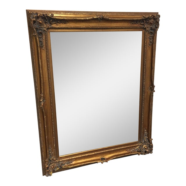 Framed Gold Wall Mirror - Image 1 of 8