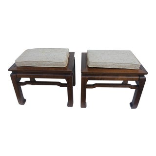 1970's Asian-Style Convertible Stools - A Pair