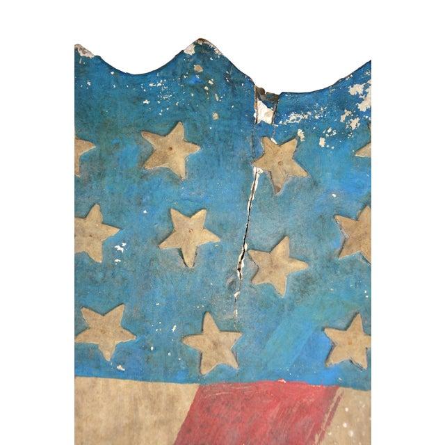 Vintage Hand-Crafted Patriotic Plaster Crest - Image 2 of 4