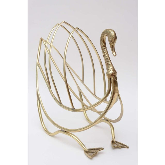 Maison Jansen Polished Brass Magazine or Book Stand or Holder - Image 4 of 10