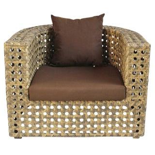 Outdoor Faux Rattan Club Chair