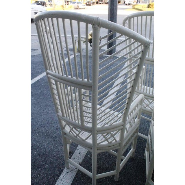 Brighton Pavilion High Back Rattan Chinese Chippendale Chairs - Set of 4 - Image 5 of 11