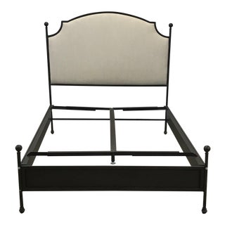 Full Size Iron and Linen Aberdeen Bed