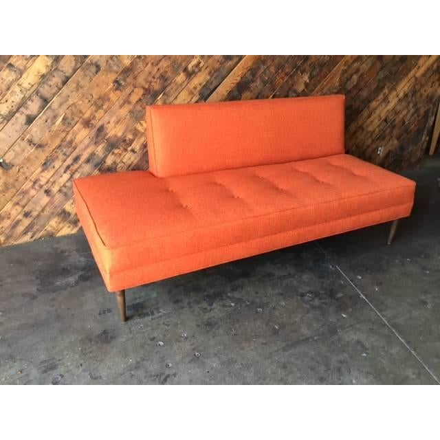 Mid century style custom day bed sofa chairish for Mid century style bed