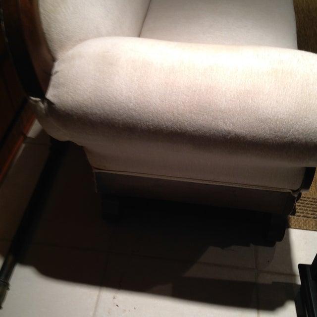 Camel Back Reupholstered Sofa - Image 4 of 6